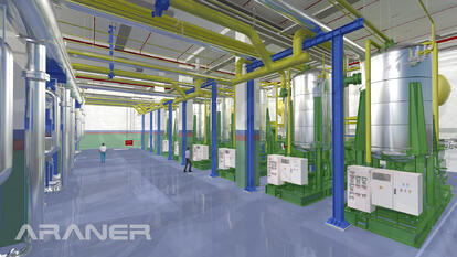 Interior of an ARANER District Cooling plant