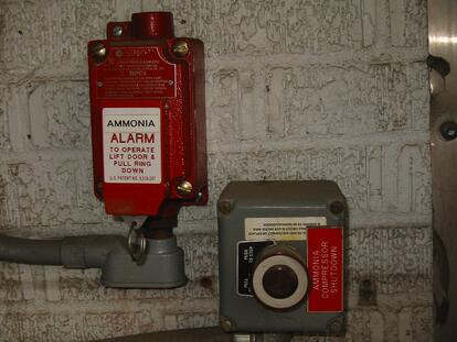 Ammonia alarm switch and Compressor Emergency shut-off button