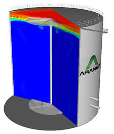 CFD simulation of a TES Tank