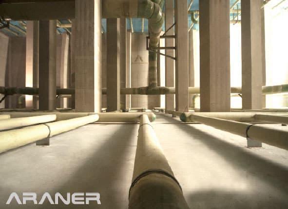 Concrete TES Tank internal view