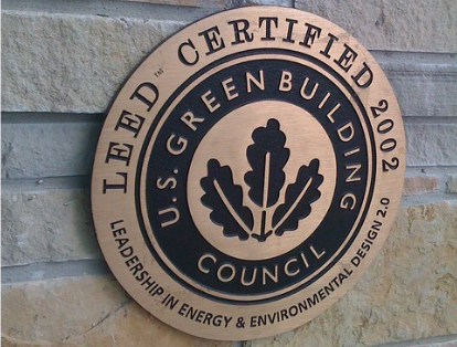LEED certification on a building