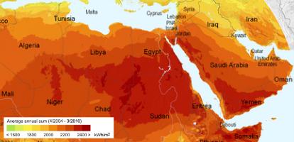 Solar Map of MENA Region