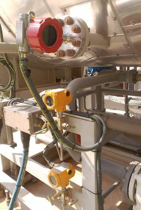 sensor in a power plant