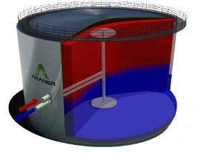 thermal energy tank radial diffuser