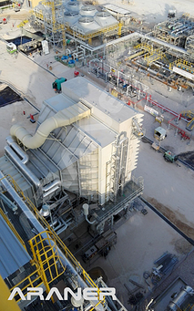 Aerial view of a Middle East Turbine Cooling installation to for gas turbine power output
